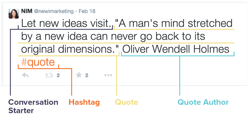 How a Nimble Quote looks in my Twitter feed