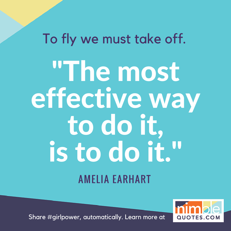 NQ branded promo Earhart girlpower quote