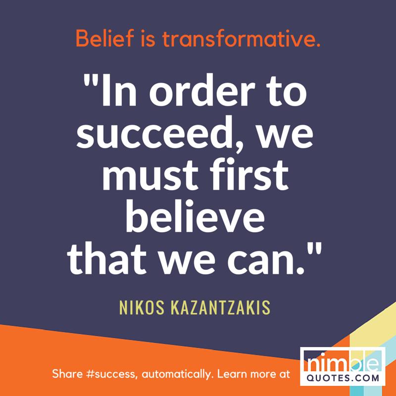 NQ branded promo Kazantzakis success quote