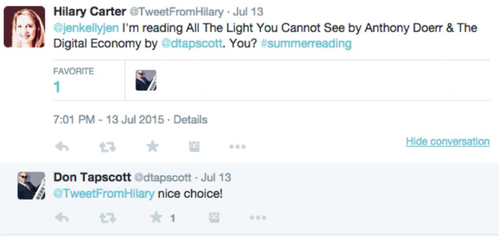 Hilary author responds on Twitter