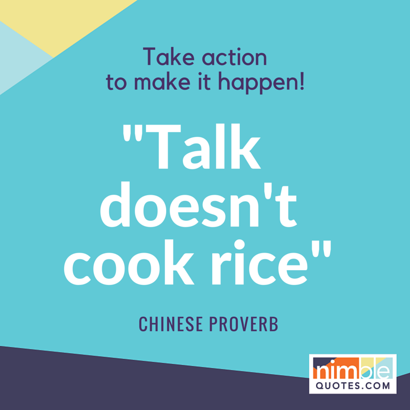 Nimble Quotes Chinese proverb