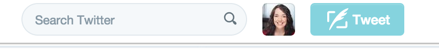 Tweet button at top of page