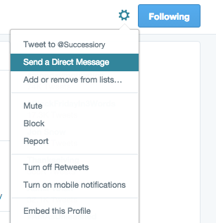how to use Twitter direct message feature