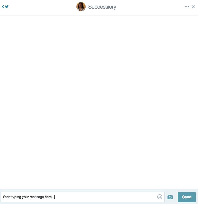 what a Twitter dm screen looks like