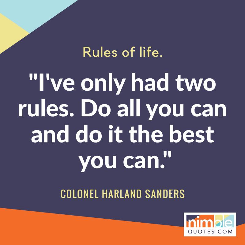 Colonel Sanders relevant quote