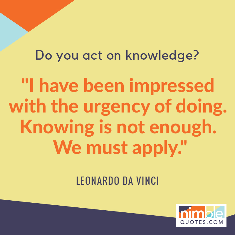 da Vinci quote applied to using Twitter tools